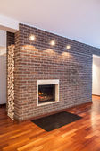 Country home - brick wall — Stock Photo