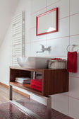 Ruby house - contemporary wash basin — Stock Photo