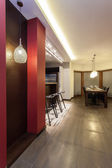 Ruby house - Dining room — 图库照片