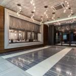 Woodland hotel - entrance hall — Stock Photo