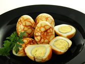 Eggs with pattern — Stock Photo