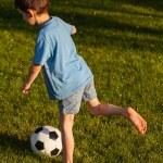 Young kicker — Stock Photo