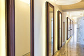 Mirrors in corridor — Stock Photo