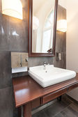 Vertical view of bath sink — 图库照片