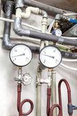 Sistema de tuberías de calefacción — Foto de Stock