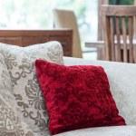 ������, ������: Red velvet pillow
