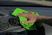 Dashboard dusting — Stock Photo