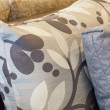 Printed or embroidered pillows — Stockfoto