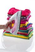 Arranged composition laundry — Stockfoto