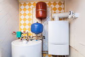 Vintage mansion - boiler room — Stock Photo