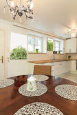 Vintage mansion - kitchen table — Stock Photo