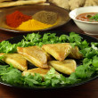Vegetable samosas — Stockfoto