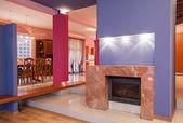 Amaranth house - Fireplace — Stock Photo