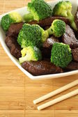 Beef with broccoli — Stock Photo
