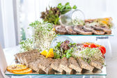 Glass plate with pate — Stock Photo
