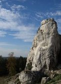 Limestone rocks for climbing — Stock Photo