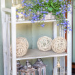 Stock Photo: Mediterranean interior - artistic shelves