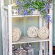 Mediterranean interior - artistic shelves — Stock Photo