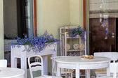 Mediterranean interior - garden furniture — Stock Photo