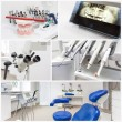 At the dentist's - collage — Stock Photo