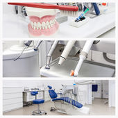 Photos of a dentist's office — Stock Photo