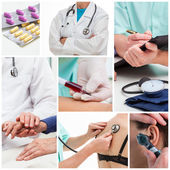 Doctor's help collage — Stock Photo