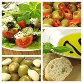 Collage of mediterranean dishes — Stock Photo