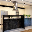 Urban apartment - Black counter — Stock Photo
