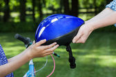 Bicycle helmet — Stock Photo