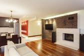 Spacious apartment - interior — Stock Photo
