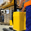Working with forklift — Stock Photo