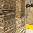 Heap of wavy corrugated — Stockfoto
