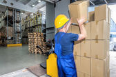 Load of boxes — Stock Photo