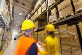 Kontrola výrobků ve skladu — Stock fotografie