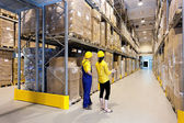 Workers in warehouse — Foto Stock