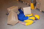 Injured worker — Stock Photo