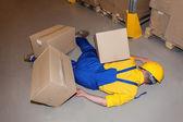 Injured worker — Stock Photo