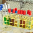 Stock Photo: Chemical substance in test tubes