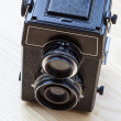 Twin-lens camera — Stock Photo