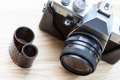 Reflex analogue camera — Stock Photo