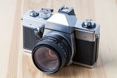 Reflex camera, closeup — Stock Photo