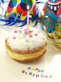 Birthday donut — Stock Photo