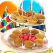 Birthday muffins — Foto de Stock