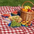Picnic in the morning — Stock Photo