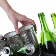 Stock Photo: Recycling bins, isolated background