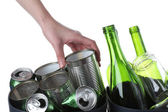Recycling bins, isolated background — Stock Photo