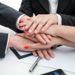 Business team- hands — Stock Photo