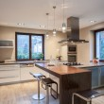 Travertine house- Pleasant kitchen — Stock Photo #32073959