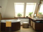 Brown bathroom — Stock Photo