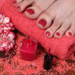 Pedicure in the spa salon — Stock Photo
